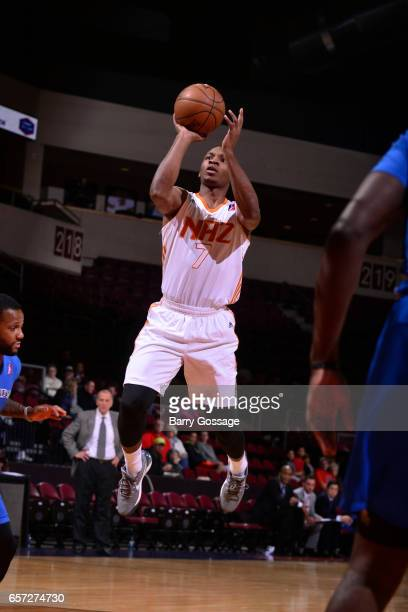 Elijah Millsap of the Northern Arizona Suns drives to the basket and shoots the ball against the Texas Legends on March 23 2017 at Prescott Valley...