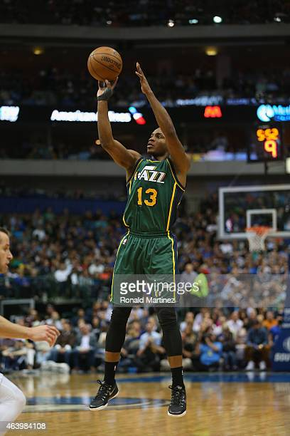 Elijah Millsap of the Utah Jazz at American Airlines Center on February 11 2015 in Dallas Texas NOTE TO USER User expressly acknowledges and agrees...