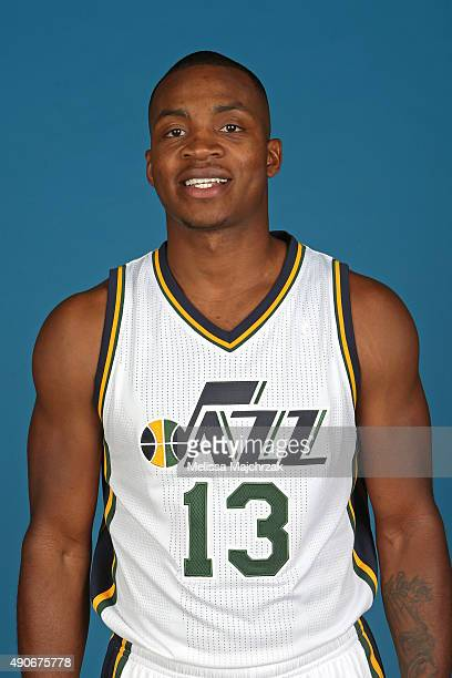 Elijah Millsap of the Utah Jazz poses for a photo during Media Day at Zions Basketball Center on September 28 2015 in Salt Lake City Utah NOTE TO...