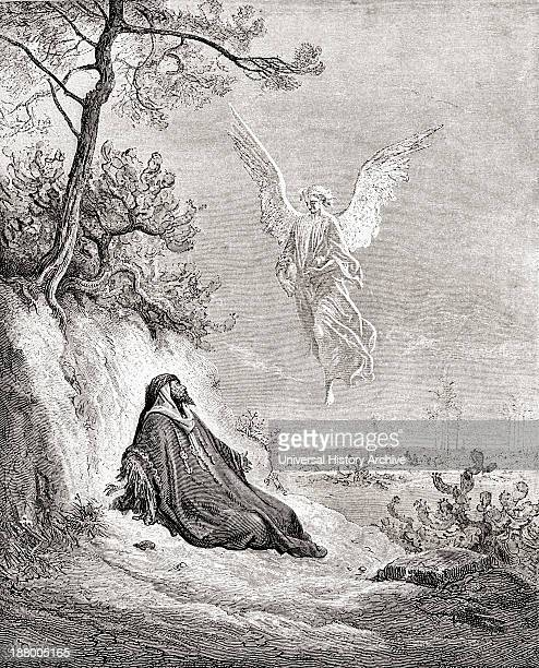 Elijah Nourished By An Angel After A Work From The Bible By Gustave Dore From Life And Reminiscences Of Gustave Dore Published 1885