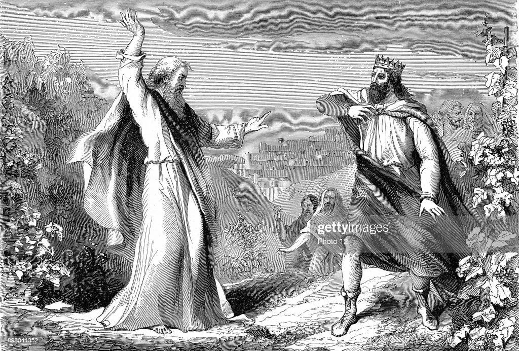 Elijah denouncing Ahab : News Photo