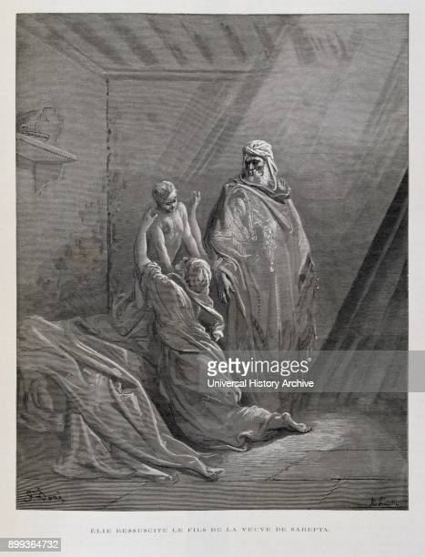 Elijah Raises the Son of the widow of Zarephath Illustration from the Dore Bible 1866 In 1866 the French artist and illustrator Gustave Doré...