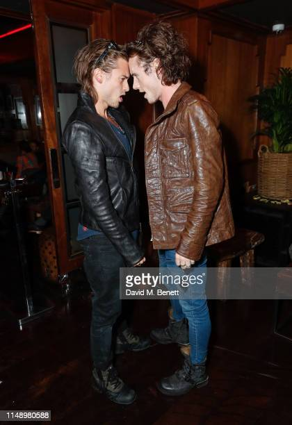 Elijah Rowen and Jack McEvoy attend the Glass Man launch x Supa Model Management LFWM party during London Fashion Week at the Novikov on June 10 2019...
