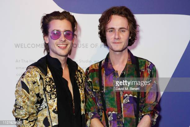 Elijah Rowen and Jack McEvoy attend the launch of The House Of Peroni on February 26 2019 in London England