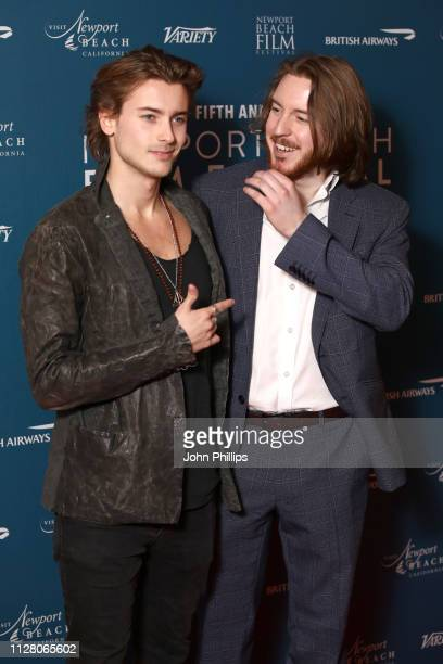 Elijah Rowen and Thomas Beatty attend the Newport Beach Film Festival UK honours event at The Langham Hotel on February 07 2019 in London England