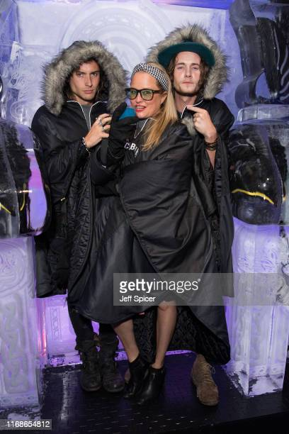 Elijah Rowen Erica Bergsmeds and Jack McEvoy attend a VIP event in celebration of Elijah Rowen's birthday at ICEBAR on August 17 2019 in London...