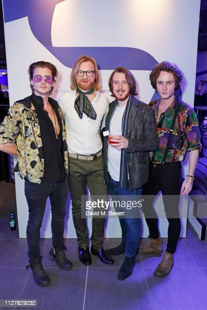 Elijah Rowen Henry Conway Thomas Beatty and Jack McEvoy attend the launch of The House Of Peroni on February 26 2019 in London England