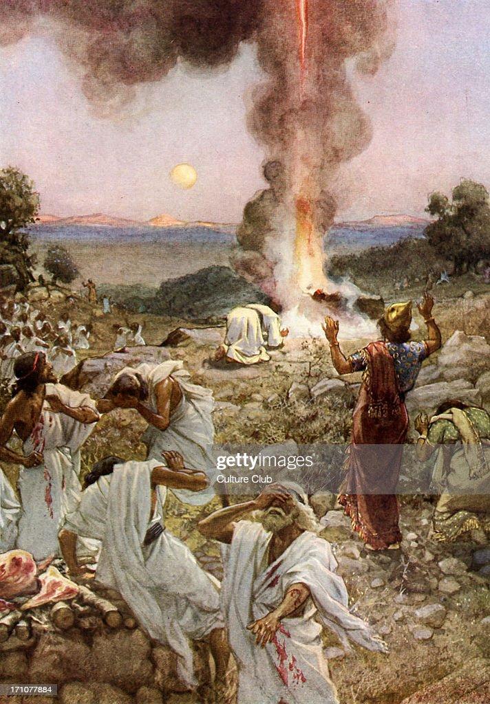 Elijah 's sacrifice at Mount Carmel : News Photo