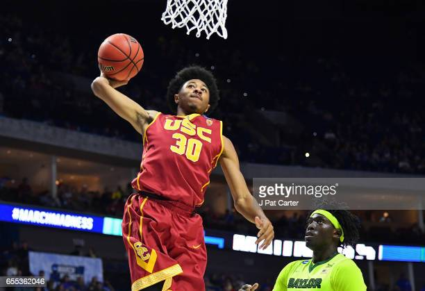 Elijah Stewart of the USC Trojans dunks the ball against the Baylor Bears during the second round of the 2017 NCAA Men's Basketball Tournament at BOK...
