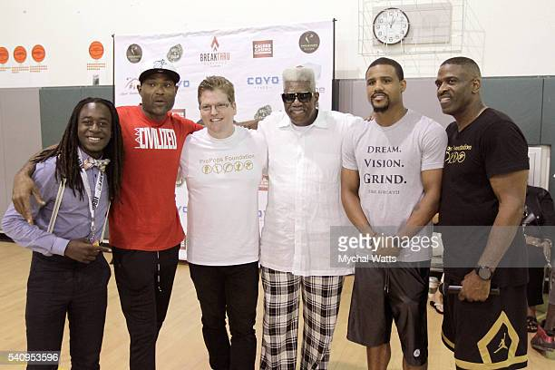 Elijah Wells China Pastor Scott Claunch Pastor Davis Boxer Andre Dirrell and Dwyane Wade Sr attend Propops Foundation Fathers Day Weekend>> on June...
