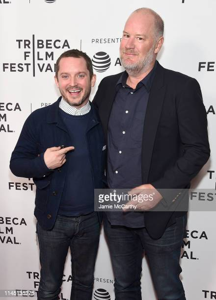 Elijah Wood and director Ant Timpson attend the Come To Daddy screening at the 2019 Tribeca Film Festival at SVA Theater on April 25 2019 in New York...