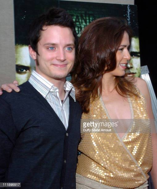 Elijah Wood and Lexi Alexander director during Green Street Hooligans New York Premiere at Union Square Stadium 14 in New York City New York United...