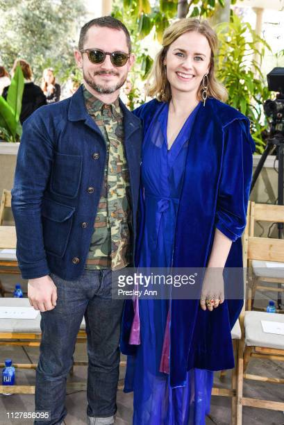 Elijah Wood and Mette-Marie Kongsved attend Rodarte FW19 Fashion Show at The Huntington Library and Gardens on February 05, 2019 in San Marino,...