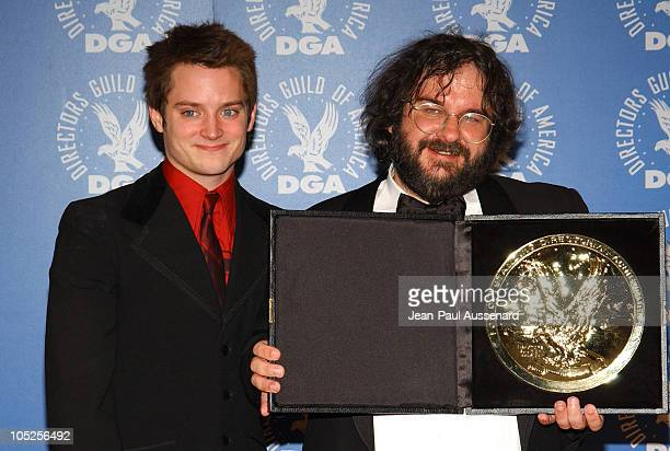60c7fa2daf8b Elijah Wood and Peter Jackson during 56th Annual Directors Guild of America  Awards Pressroom at Century