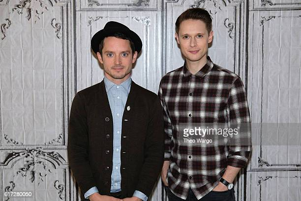 Elijah Wood and Sam BarnettThe Build Presents Elijah Wood Sam Barnett Discussing Their Show Dirk Gently's Holistic Detective Agency at AOL HQ on...