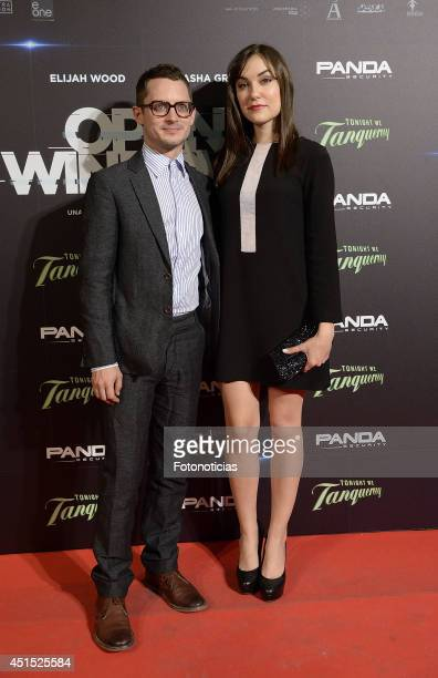 Elijah Wood and Sasha Grey attend the 'Open Windows' premiere at Capitol cinema on June 30 2014 in Madrid Spain