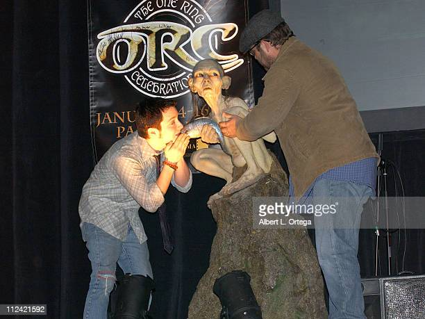 Elijah Wood and Sean Astin during Creation Entertainment Presents The One Ring Celebration Day 2 at Pasadena Civic Auditorium in Pasadena California...