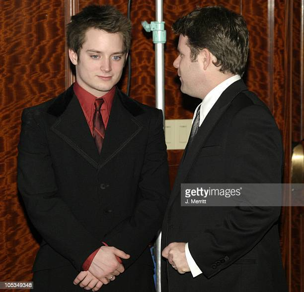 Elijah Wood and Sean Astin during The 56th Annual DGA Awards Press Room at The Century Plaza Hotel in Century City California United States