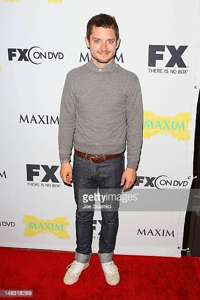 Elijah Wood arrives at the ComicCon International 2012 FX Maxim And Fox Home Entertainment Red Carpet Event at Andaz on July 13 2012 in San Diego...