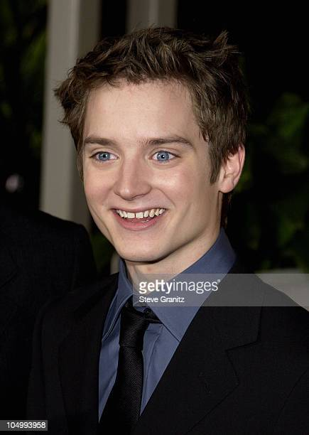 Elijah Wood arriving at the AFI Awards 2001 at the Beverly Hills Hotel in Beverly Hills California