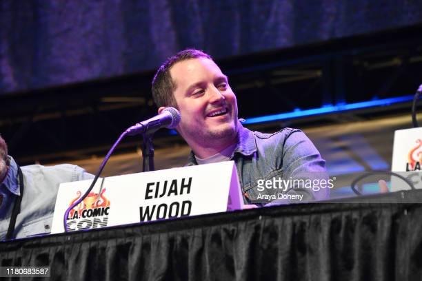 Elijah Wood at 2019 Los Angeles ComicCon at Los Angeles Convention Center on October 12 2019 in Los Angeles California