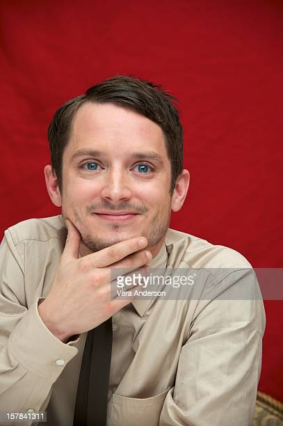 "Elijah Wood at ""The Hobbit: An Unexpected Journey"" Press Conference at The London Hotel on December 6, 2012 in New York City."