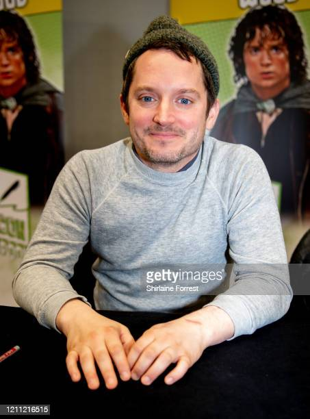 Elijah Wood attends Comic Con Liverpool 2020 on March 08 2020 in Liverpool England
