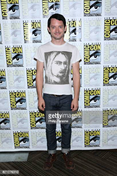 Elijah Wood attends Dirk Gently's Holistic Detective Agency press line at ComicCon International 2017 on July 23 2017 in San Diego California