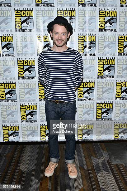 Elijah Wood attends the Dirk Gently press line at ComicCon International 2016 Day 3 on July 23 2016 in San Diego California