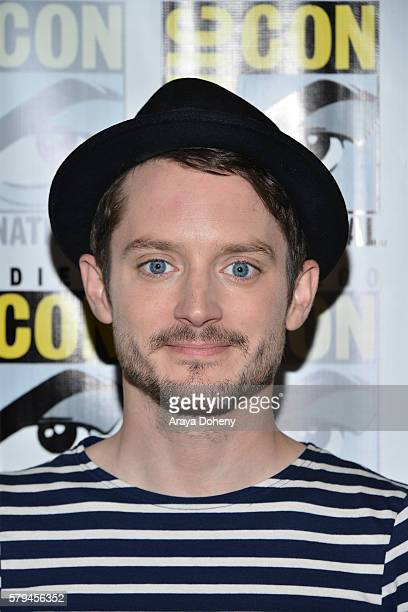 Elijah Wood attends the Dirk Gently press line at Comic-Con International 2016 - Day 3 on July 23, 2016 in San Diego, California.