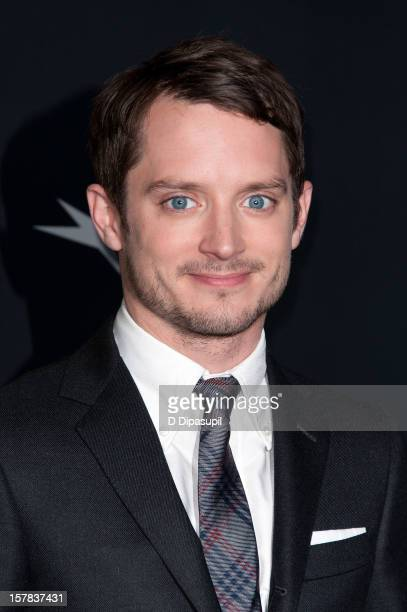 "Elijah Wood attends ""The Hobbit: Unexpected Journey"" premiere at the Ziegfeld Theater on December 6, 2012 in New York City."