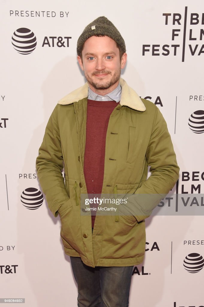 Elijah Wood attends the screening of '7 Stages to Achieve Eternal Bliss By Passing Through The Gateway Chosen By the Holy Storsh' during the Tribeca Film Festival at SVA Theatre on April 20, 2018 in New York City.