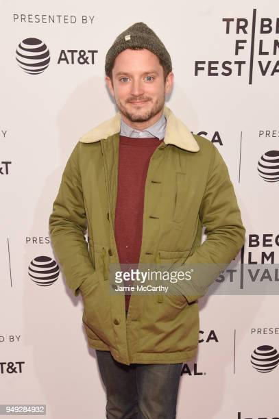 Elijah Wood attends the screening of 7 Stages to Achieve Eternal Bliss By Passing Through The Gateway Chosen By the Holy Storsh during the Tribeca...