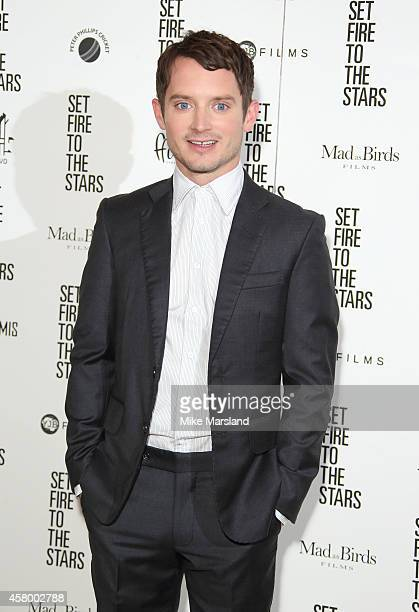 """Elijah Wood attends the UK Premiere of """"Set Fire To The Stars"""" at Ham Yard Hotel on October 28, 2014 in London, England."""