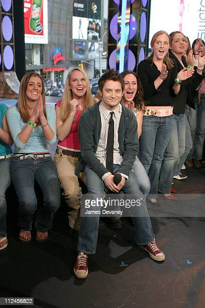 """Elijah Wood during Elijah Wood Hosts MTV's """"TRL"""" - March 12, 2004 at MTV Studios, Times Square in New York City, New York, United States."""