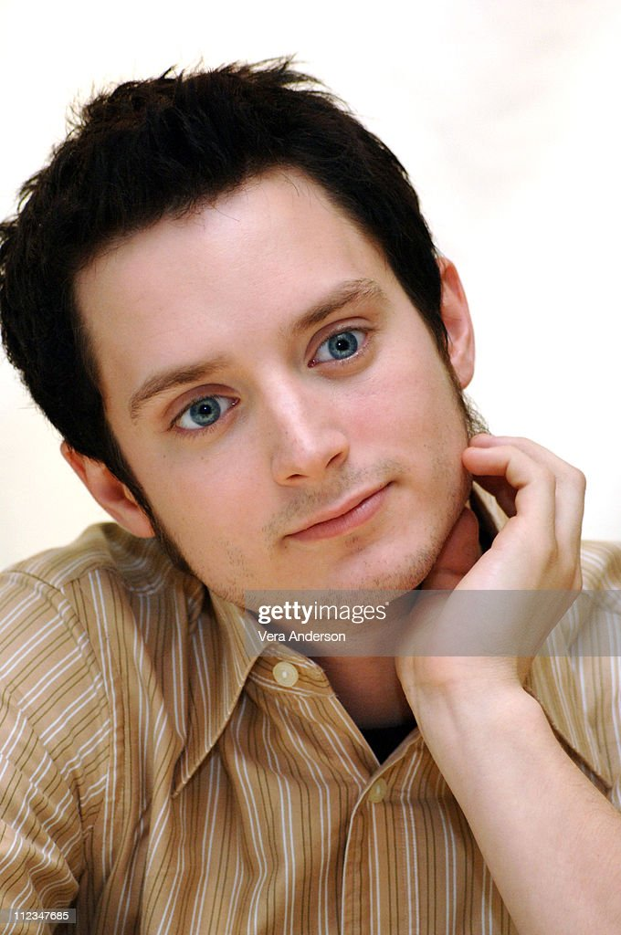Elijah Wood during 'Everything is Illuminated' Press Conference with Elijah Wood, Liev Schreiber and Eugene Hutz at Four Seasons Hotel in Beverly Hills, California, United States.