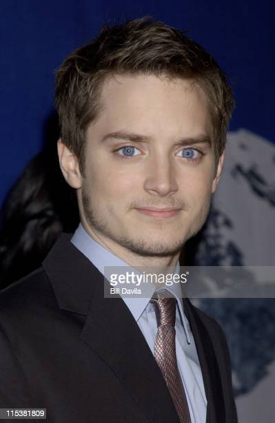 Elijah Wood during 'The Lord of The Rings The Fellowship of the Ring' New York Premiere at The Ziegfeld Theater in New York City New York United...