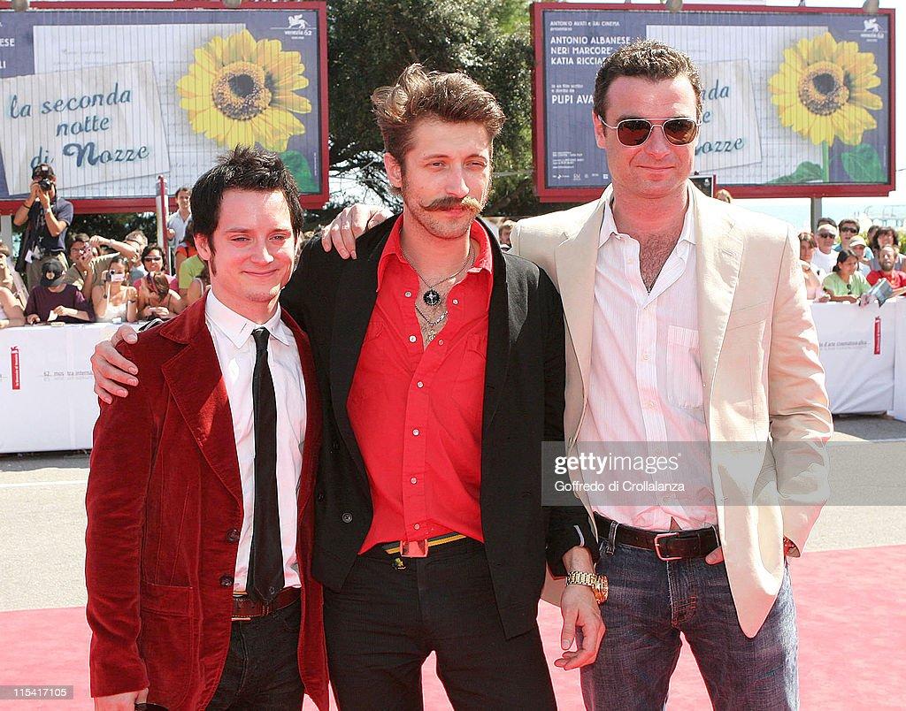 Elijah Wood, Eugene Hutz and Liev Schreiber, director and screenwriter