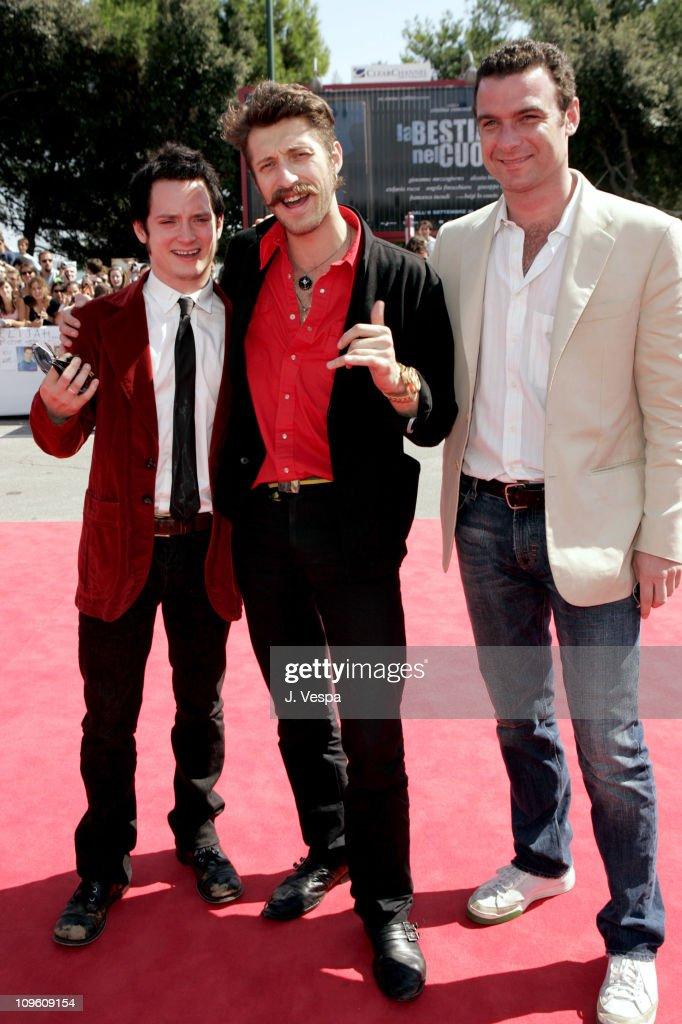 Elijah Wood, Eugene Hutz and Liev Schreiber, director/screenwriter