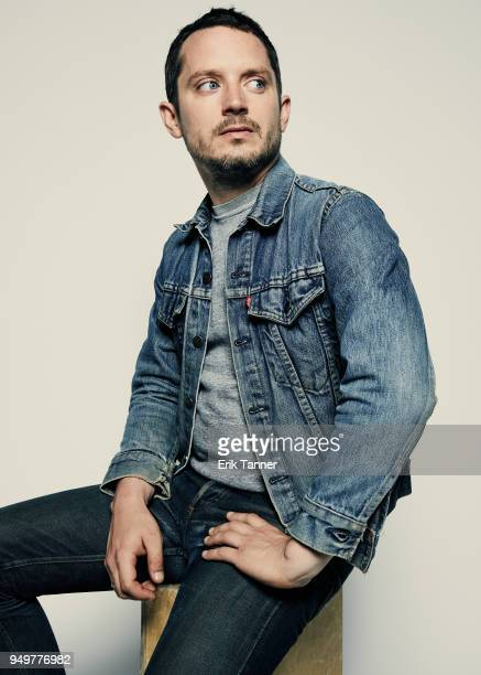 Elijah Wood of the production company Company X poses for a portrait during the 2018 Tribeca Film Festival at Spring Studio on April 21 2018 in New...