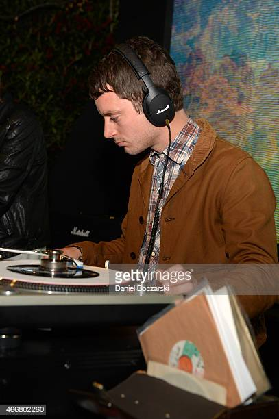 Elijah Wood performs during the Marshall Headphones secret and intimate speakeasy popup party at the SXSW 2015 music festival in Austin Texas...