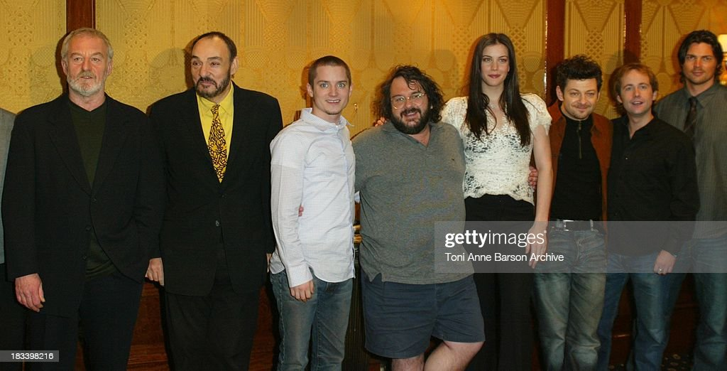 Elijah Wood, Peter Jackson, Liv Tyler & Cast during The Lord