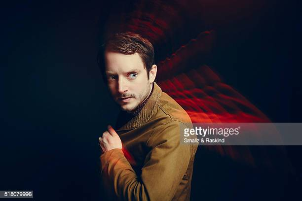 Elijah Wood poses for a portrait in the Getty Images SXSW Portrait Studio Powered By Samsung on March 13 2016 in Austin Texas