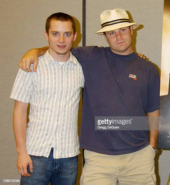Elijah Wood Sean Astin during 2003 San Diego ComicCon International at San Diego Convention Center in San Diego CA United States