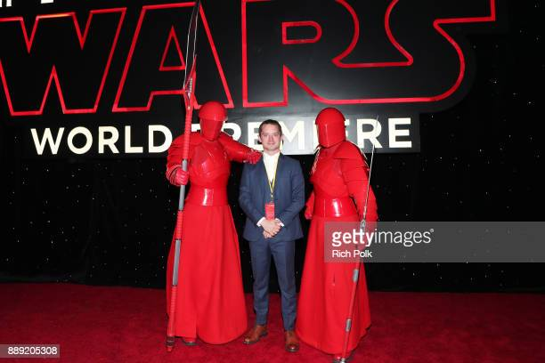 Elijah Wood with the Praetorian Guard at Star Wars The Last Jedi Premiere at The Shrine Auditorium on December 9 2017 in Los Angeles California