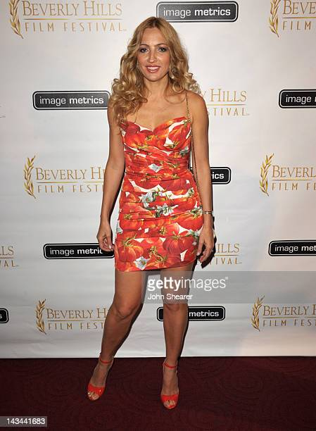Elika Portnoy attends the 12th Annual International Beverly Hills Film Festival opening night at AMPAS Samuel Goldwyn Theater on April 25 2012 in...