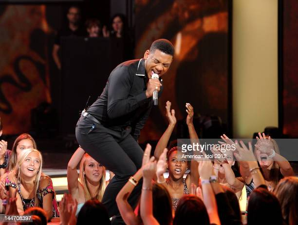 Eliminated contestant Joshua Ledet performs onstage at FOX's American Idol Season 11 Top 3 To 2 Live Elimination Show on May 17, 2012 in Hollywood,...