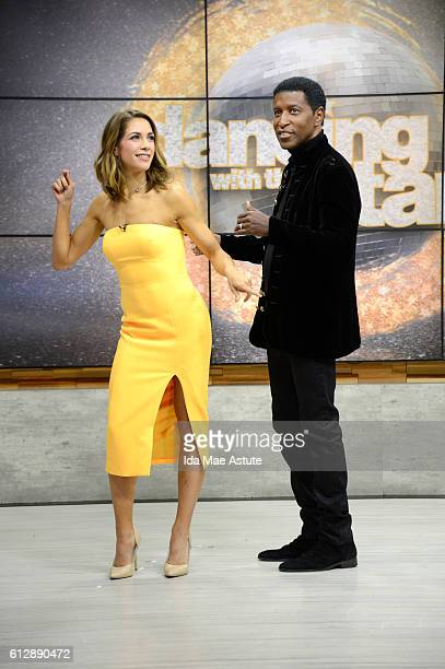 AMERICA Eliminated from 'Dancing With The Stars' Kenneth 'Babyface''Edmonds and Allison Holker visit GOOD MORNING AMERICA 10/5/16 airing on the ABC...