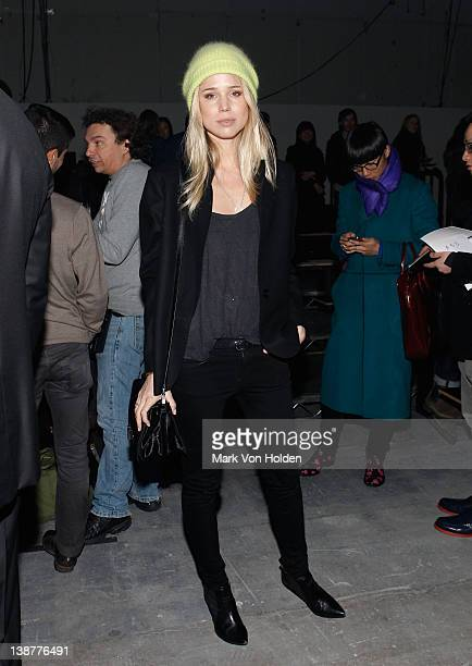 Elin Kling attends the Alexander Wang fall 2012 fashion show at Pier 94 on February 11 2012 in New York City