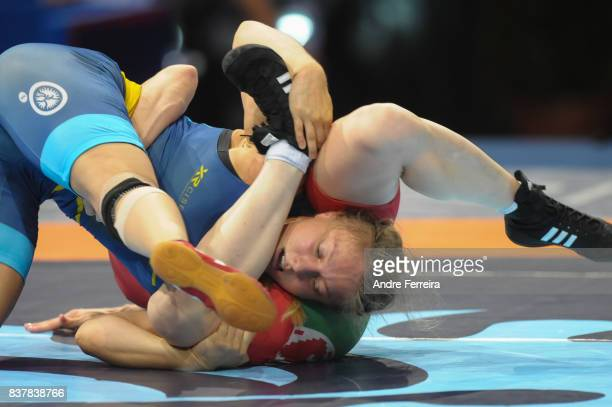 Elin Nilsson of Sweden during the female 58 kg wrestling competition of the Paris 2017 Women's World Championships at AccorHotels Arena on August 23...